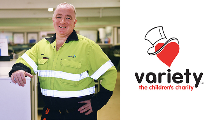 Ventia Award Winner, John McManus, chose Variety - the children's charity - in the Northern Territory to donate to.
